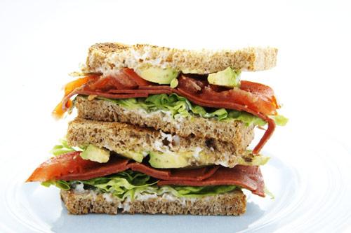 veggie B.L.A.T. sandwich