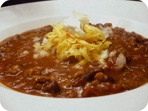... weather is getting colder and colder, all i want for dinner is chili