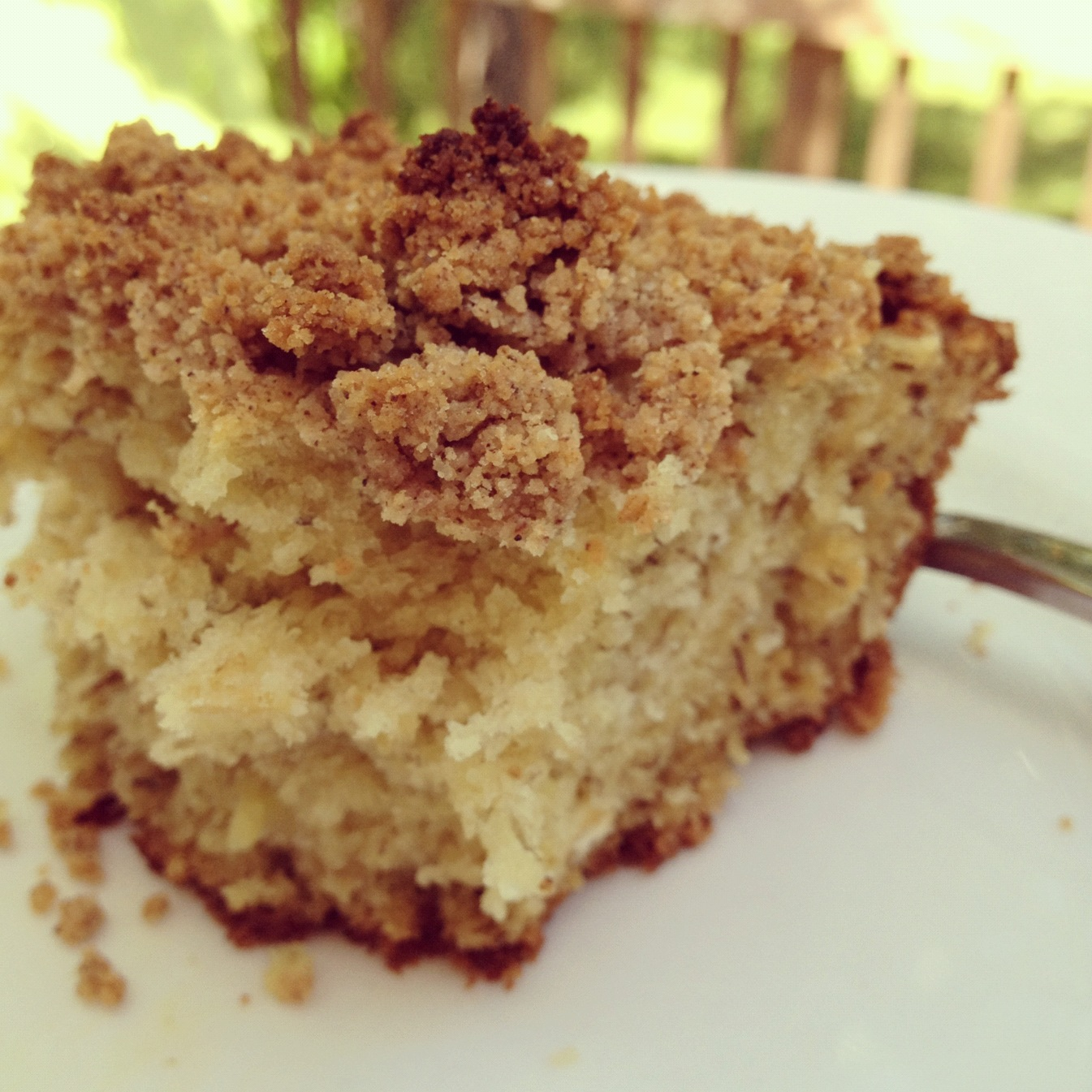 Coffee Cake With Oatmeal Streusel