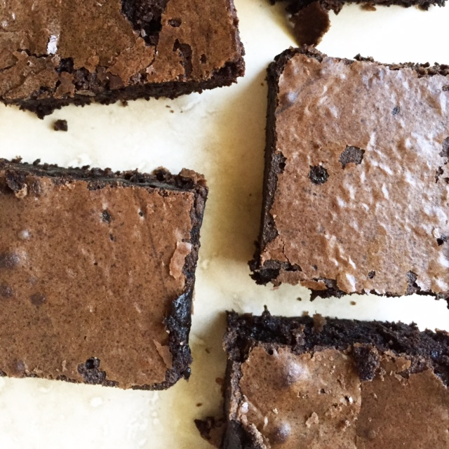 mexican dark chocolate brownies via she likes to eat